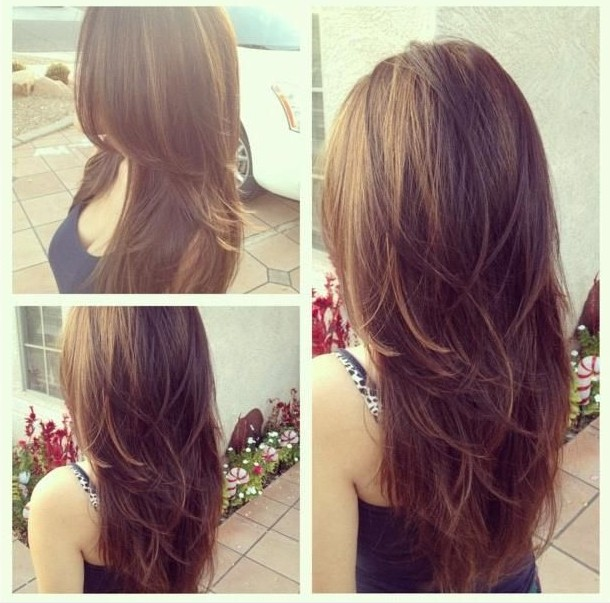 Layered Long Hairstyle For S
