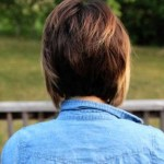 Back View of Layered Graduated Bob Hairstyle