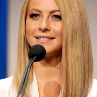 Long Bob Hairstyle - Long Sleek Blonde Bob Haircut