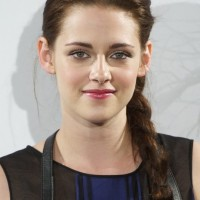 Simple Long Braided Hair Style from Kristen Stewart