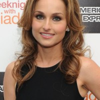 Giada De Laurentiis Long Curly Hairstyles for Thin Hair