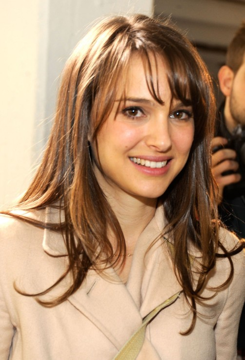Natalie Portman Long Hairstyles for Thin Hair