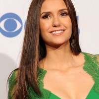 Nina Dobrev Long Sleek Hairstyles 2013
