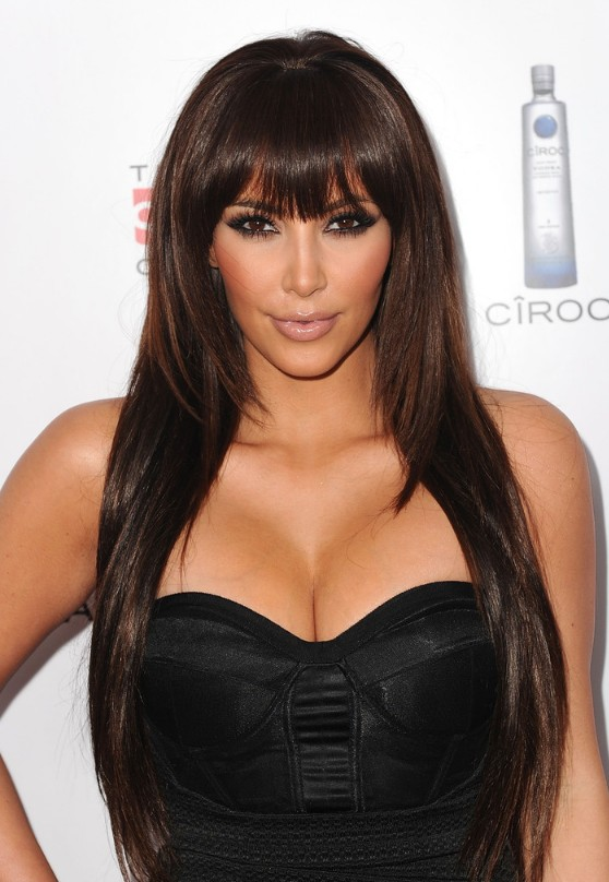 Latest Long Sleek Hairstyles for Women from Kim Kardashian