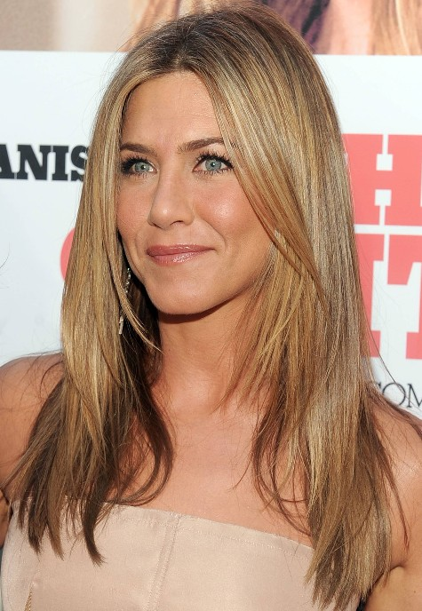 Pleasing Jennifer Aniston Long Straight Hairstyle With Layers Hairstyles Short Hairstyles For Black Women Fulllsitofus
