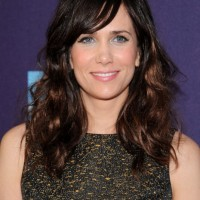 Long Wavy Hairstyles with Side Swept Bangs