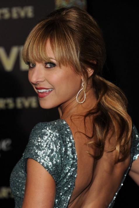 Christine Lakin Low Ponytail with Sexy Lash Grazing Bangs
