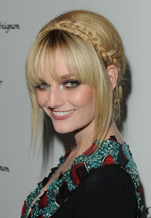 Pleasant Braided Bangs Updo Hairstyles Braids Short Hairstyles Gunalazisus