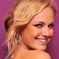 Malin Akerman Casual Messy Updo Hairstyle