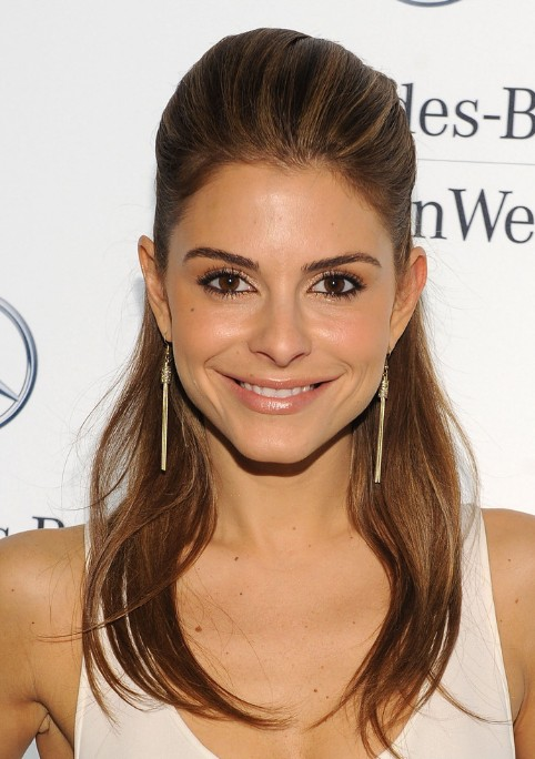Brilliant Maria Menounos Half Up Half Down Hairstyle For Long Straight Hair Schematic Wiring Diagrams Amerangerunnerswayorg