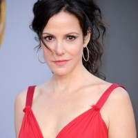 Mary-Louise Parker Messy Updo for Summer