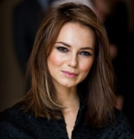 Kara Tointon Medium Hairstyles with Layers