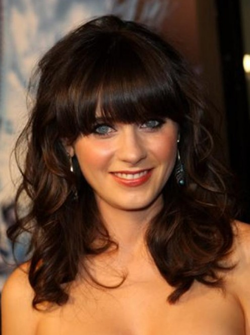 Medium Wavy Hairstyle with BangsLong Wavy Hairstyles With Bangs