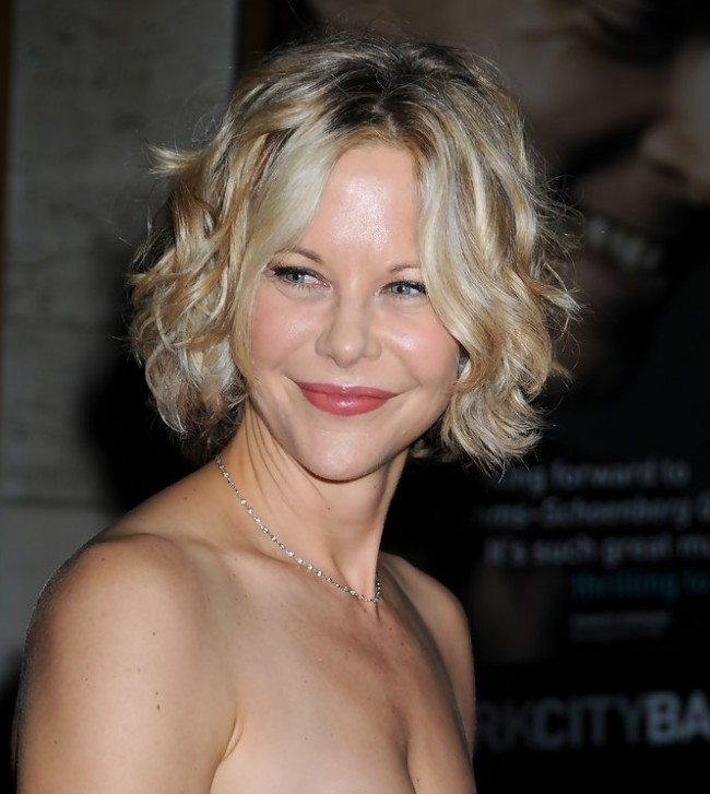 Awesome Meg Ryan Short Bob Hairstyle With Curls Hairstyles Weekly Hairstyle Inspiration Daily Dogsangcom