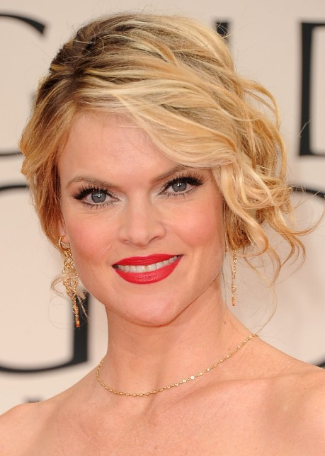 Prime Missi Pyle Messy Updo Hairstyle With Side Bangs Hairstyles Weekly Short Hairstyles For Black Women Fulllsitofus