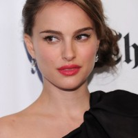 2013 Side Bun Updos: Sophisticated Side Bun Updo from Natalie Portman