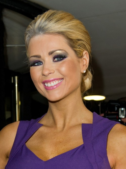 Nicola McLean Loose Bun Updo for Women over 30