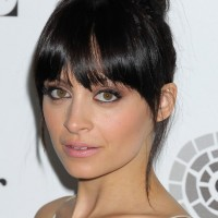 Nicole Richie Brunette Knot Updo Hairstyle