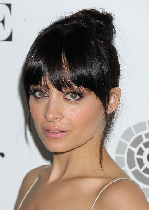 Incredible Nicole Richie Brunette Knot Updo Hairstyle Hairstyles Weekly Short Hairstyles Gunalazisus