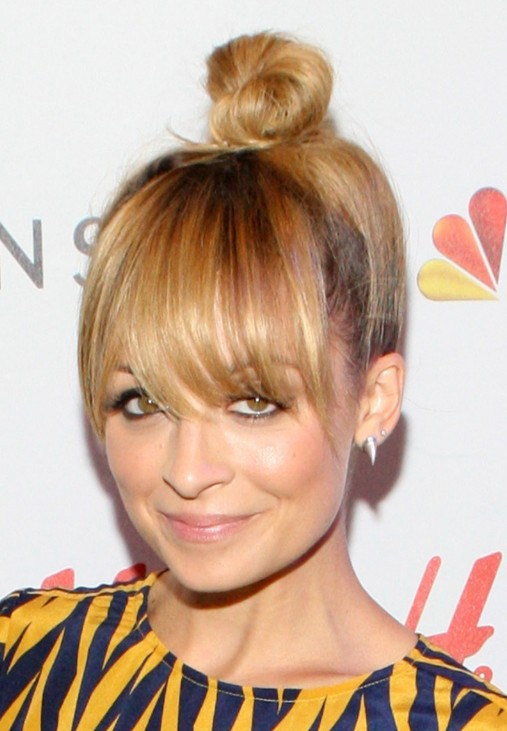 Nicole Richie Cute Knot Hairstyle - Top Knot Hair