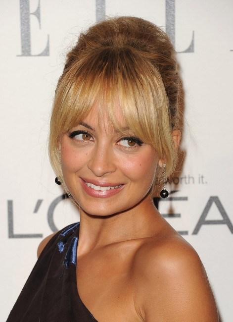 Nicole Richie French Twist With Bangs - Popular French Twist