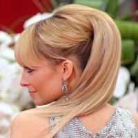 Nicole Richie Half Up Half Down Sleek Hairstyle for Wedding 2013