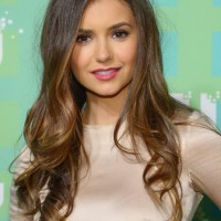 Nina Dobrev Long Wavy Hairstyle for Young Ladies