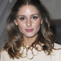 Olivia Palermo Half Up Half Down Hairstyle with Loose Waves
