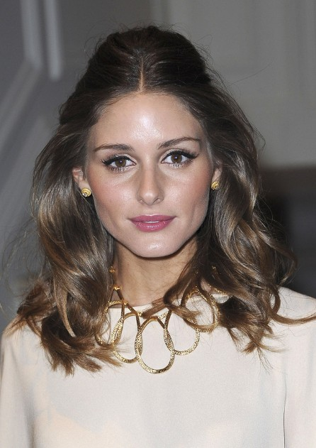 Olivia Palermo Half Up Half Down Hairstyle With Loose