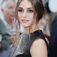 Olivia Palermo Messy Updo for Medium Length Hair