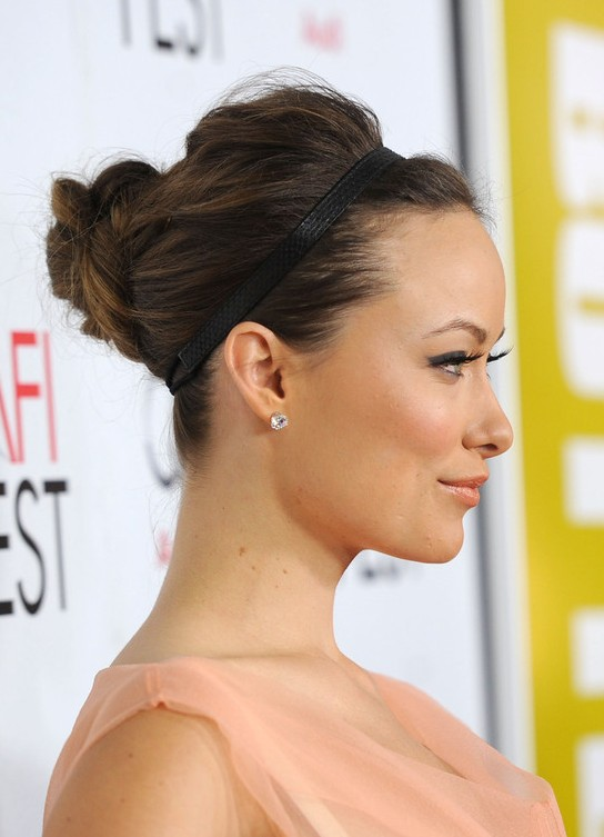 Olivia Wilde Elegant Updo with Headband