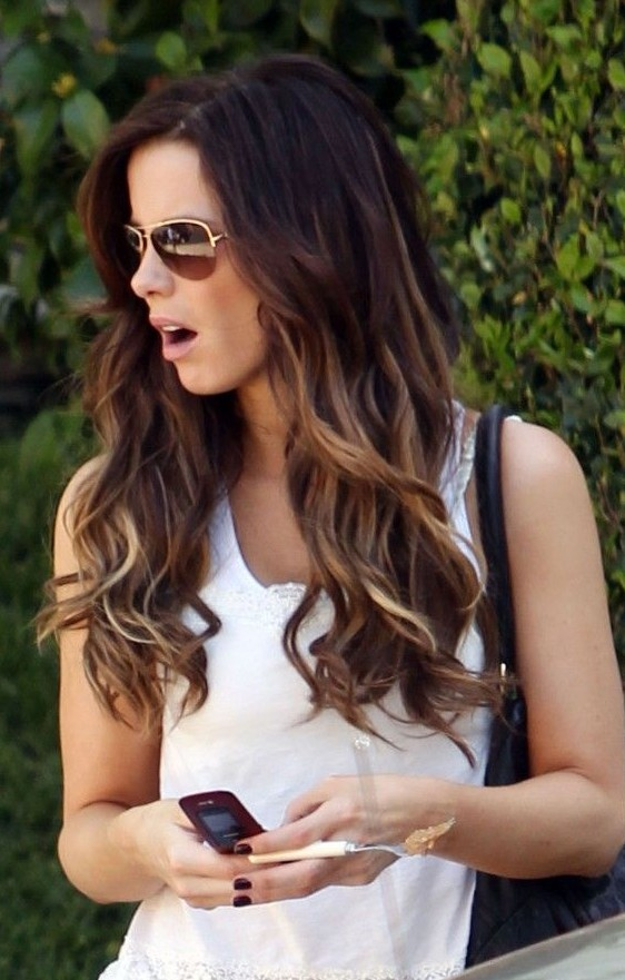 Stupendous Ombre Hair 2014 Dip Dye Highlighted Long Ombre Hair For Summer Hairstyles For Men Maxibearus