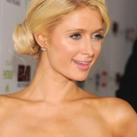2013 Paris Hilton Cute Side Bun Updos for Long Hair