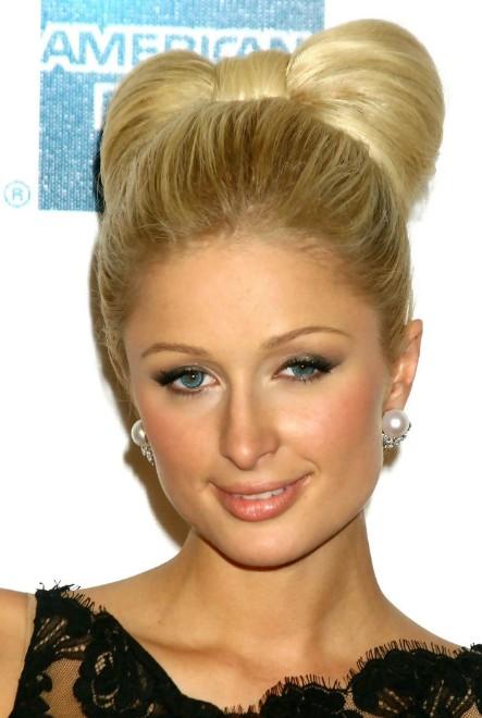 Paris Hilton Stylish Knot Hair Style