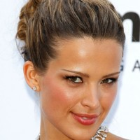 2013 Prom Hairstyles: Petra Nemcova Updo for Prom
