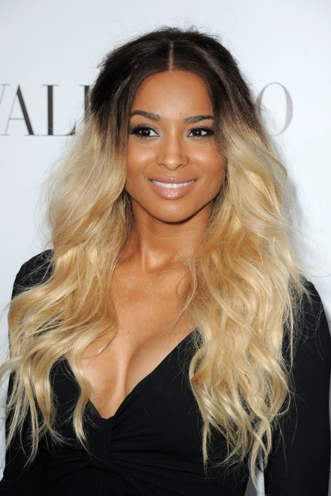 Popular Long Curly Dark to Light Ombre Hair
