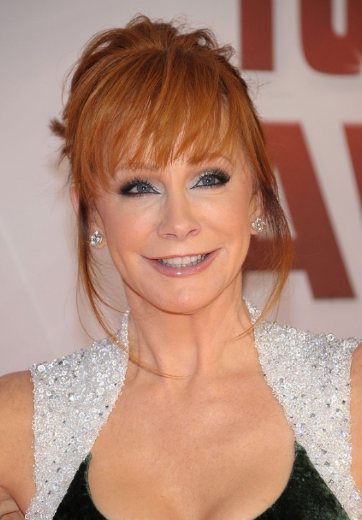 Reba mcentire bobby pinned updo for women over 50