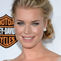 Rebecca Romijn Loose Low Bun Updo - Elegant Messy Buns