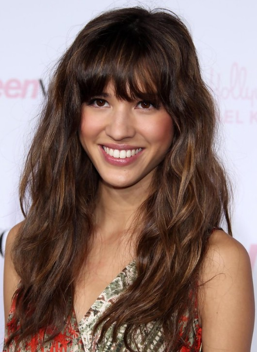 Long Hairstyles with Bangs for Curly Hair