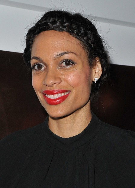 Rosario Dawson Braided Black Updo for Black Women