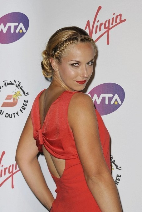 Sabine Lisicki Braided Hairstyle 2013 - 2014