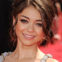 Cute Bun Updo Hairstyle for Girls - Sarah Hyland Hairstyles 2013