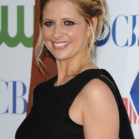 Sarah Michelle Gellar Messy Braided Updo
