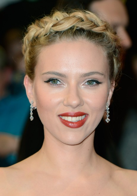 Scarlett johansson braided updo for prom hairstyles weekly scarlett johansson braided updo for prom pmusecretfo Image collections