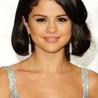 Cute Bobby Pinned Black Updo for Girls from Selena Gomez