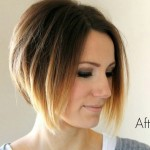Short Angled Ombre Bob Haircut