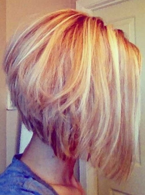 Short Ombre Graduated Bob Haircut
