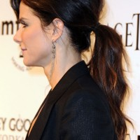 Side View of Casual Low Ponytail