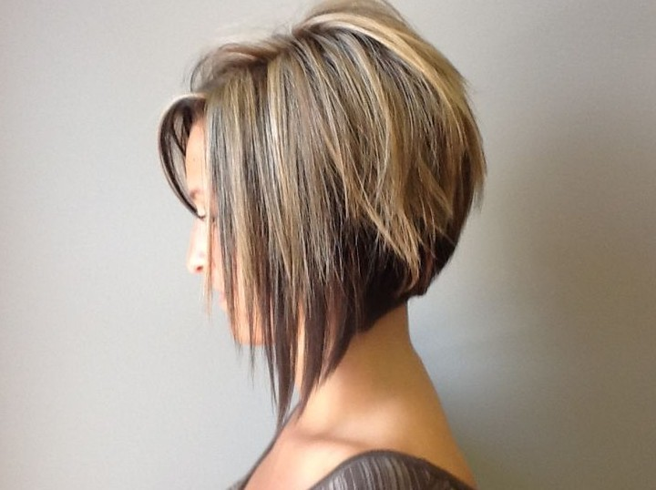 Side View of Graduated Bob Hairstyle - Trendy Bob Haircut for 2019