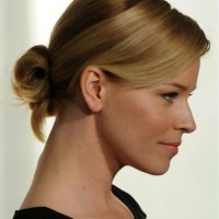 Side View of Loose Bun Updo